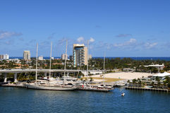 View of Fort Lauderdale Water Front Royalty Free Stock Image