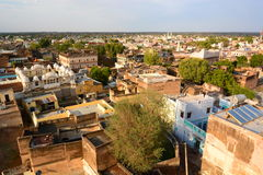 View from the fort. Mandawa. Rajasthan. India Royalty Free Stock Photo