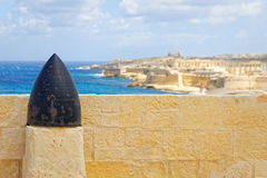 View of Fort Rinella from the War Museum, Valletta.  Stock Images
