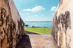 View from Fort San Felipe del Morro in Puerto Rico Stock Photos
