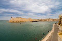 View of Fort St Angelo. View of Fort Saint Angelo in Birgu on the island Malta Stock Photos