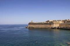 View of Fort St Elmo in Valletta / Malta. Mediterranean sea Royalty Free Stock Photo