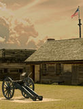View of fort stanwix. In rome,new york Royalty Free Stock Images