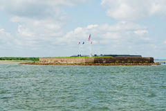 View on Fort Sumter. View on historic Fort Sumter in Charleston harbor Royalty Free Stock Photo