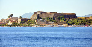 View of the fort and the town of Corfu in the summer, Greece, Europe Stock Photography