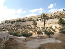 View of a fortification on the Temple mountain. Jerusalem, Israe Stock Photos