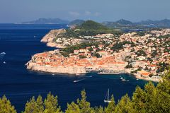 View of the fortifications of the old Dubrovnik, Croatia Royalty Free Stock Photos