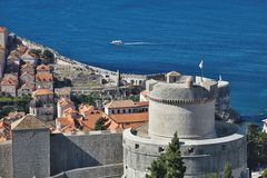 View of the fortifications of the old Dubrovnik, Croatia Royalty Free Stock Photo