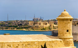 View of fortifications of Valletta. Malta Royalty Free Stock Image