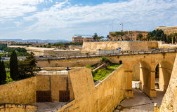 View of fortifications of Valletta. Malta Stock Photography