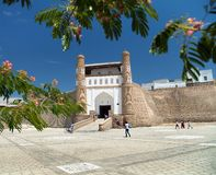 View of fortres Ark - Ark entrance - City of Bukhara Royalty Free Stock Images