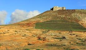 Castillo de Santa Barbara on Mount Guanapay Stock Images