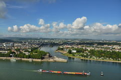 View from Fortress Ehrenbreitstein in Koblenz- Germany Stock Image
