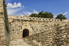 View of fortress Fortezza in Rethymnon, Crete Royalty Free Stock Image