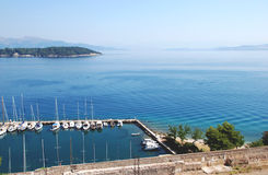 View from the fortress in Kerkyra, Corfu, Greece.  Stock Image