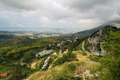 The view from the fortress Klis Stock Images