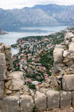 The view from the fortress of Kotor. Beautiful view from the fortress in Kotor (Montenegro Royalty Free Stock Image