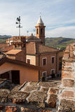 View from the fortress of the Malatesta of montiano Stock Images