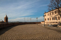 View from the fortress of the Malatesta of montiano Stock Photos