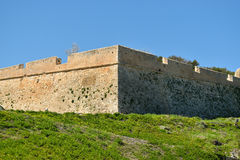 View of the fortress in Rethymnon Royalty Free Stock Photos