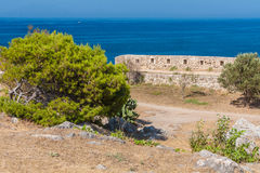 View from the Fortress of Retimno. View from old venetian Fortress of Retimno Stock Images