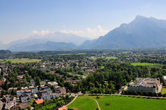 View from the fortress of Salzburg stock photo