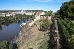 View from fortress of Visegrad. Prague. Czech Republic Royalty Free Stock Image