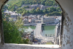 View from a fortress window in dinant. Belgium Stock Photos