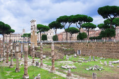 view of Forum of Caesar in Rome Stock Image