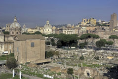 View of the Forum Romanum in HDR Royalty Free Stock Photo