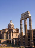 View with Forum Romanum in Rome Royalty Free Stock Photo