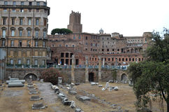 View on the Forum of Trajan Stock Images