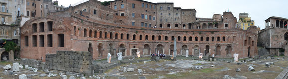 View on the Forum of Trajan Royalty Free Stock Photos