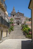 A View in Forza D`agro in Siciliy stock images