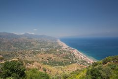 A View from Forza D`agro in Siciliy royalty free stock photos