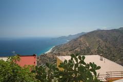 A View in Forza D`agro in Siciliy royalty free stock image