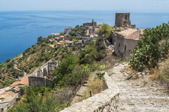 View of Forza d'Agro, Sicily Stock Photography