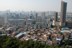 Foshan panorama. View of Foshan city in China from the top Royalty Free Stock Photography