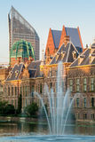 View with fountain at the Dutch parliament Royalty Free Stock Photos