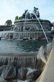 View of Fountain. A view of an elaborate water feature in the Danish city of Copenhagen Stock Photo