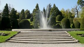 View of Fountain of Estense Palace Palazzo Estense in Varese, Lombardy, Italy. stock footage