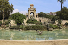 A view of Fountain of Parc de la Ciutadella, in Barcelona, Spain Stock Images