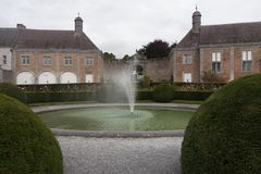 A view on a fountain. This photo from a garden by an old castle is make in Belgium stock photos