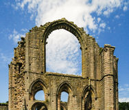 View of Fountains Abbey, England Stock Photos