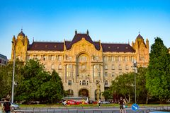 View of Four Seasons Hotel Gresham Palace Budapest royalty free stock image