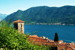 A view of a fragment of Perast Royalty Free Stock Image