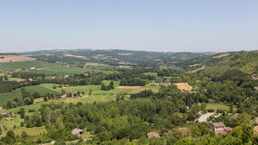 View from France's Cordes-sur-Ciel Stock Photos