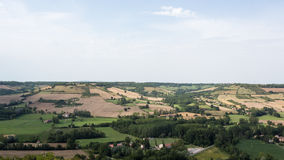 View from France's Cordes-sur-Ciel Royalty Free Stock Image