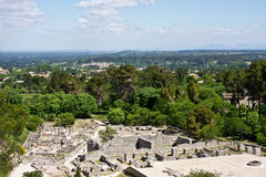 View of Saint-Rémy-de-Provence from Glanum Stock Photo