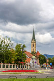 View of Franciscan monastery in Zagreb Stock Image